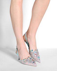 RENE' CAOVILLA Slingbacks | Buy ➜ http://shoespost.com/rene-caovilla-slingbacks-3/
