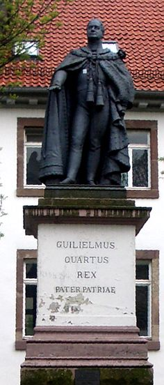 A statue of William IV in Göttingen, Germany, Wihelmsplatz: Monument to William IV, King of the United Kingdom of Great Britain and Ireland, and King of Hanover. Photo: Andreas Praefcke - Own work own photograph