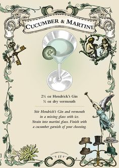 Cocktail Recipes from Hendrick's Gin 1) Elderflower Cooler ...