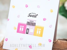 Project by Ashley Cannon Newell for Papertrey Ink (Petite Places: Sweet Shoppe) #PaperSuite #AshleyCannonNewell #PapertreyInk
