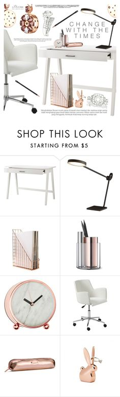 """""""Jewelry Designer"""" by totwoo ❤ liked on Polyvore featuring interior, interiors, interior design, home, home decor, interior decorating, Threshold, CB2, Beyond Object and Dot & Bo"""