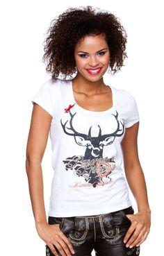 Trachten T-Shirt - Alea - weiß