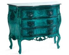 One Kings Lane - Gustavo Olivieri - Vintage Faux-Malachite Baroque Dresser