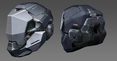 ArtStation - Helmet Concept, William Chen