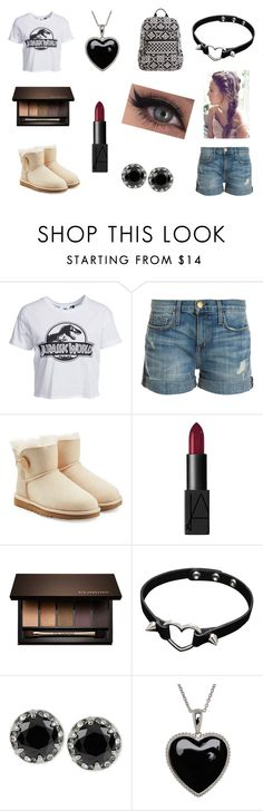 """#jurassicworld"" by rojoubdalia on Polyvore featuring New Look, Current/Elliott, UGG Australia, NARS Cosmetics, Clarins, Betsey Johnson, Lord & Taylor and Vera Bradley"