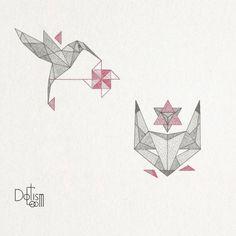 Just the hummingbird and no filler Geometric minimal Fox n Bird   Tellalis.com - Promoting creativity