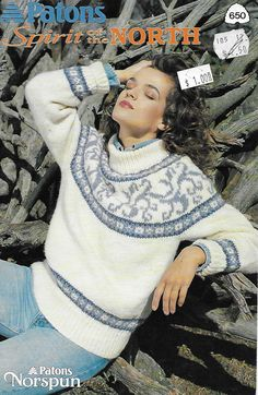 Patons 650 Spirit of the North in Weight Yarn for Adults Jumper Patterns, Sweater Knitting Patterns, Cardigan Pattern, Yarn For Sale, Icelandic Sweaters, Nordic Sweater, Knitted Flowers, Fair Isle Pattern, Pattern Books