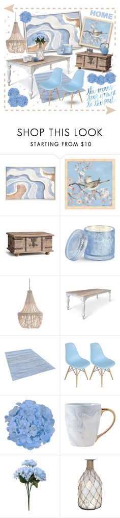 """""""Summery Style"""" by joy2thahworld ❤ liked on Polyvore featuring interior, interiors, interior design, home, home decor, interior decorating, Pottery Barn, D.L. & Co., Mod and Pomeroy"""