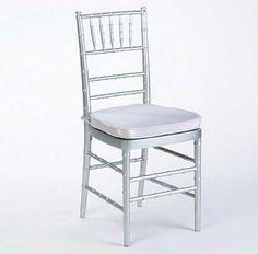 silver or white chiavari chairs
