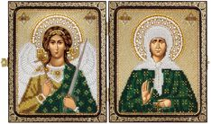 CE7202 Holly Blessed St. Matrona of Moscow & Holy Guardian Angel