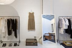 Top to Bottom: All images by La Garçonne Our first brick-and-mortar store has opened at 465 Greenwich Street in TriBeCa, New York City. Featuring emerging and established designers, along with our. Cafe Interior Design, Interior Styling, Interior And Exterior, Fashion Showroom, Beauty Room, House Design, Retail, Inspiration, Shopping