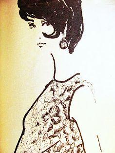 Pintucks: Fall 1961: Fashion Illustrations for Evening