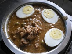 Mutton Curry Recipe with Coconut Milk, Egg, Peas and Dry Fruits ~ Easyfud