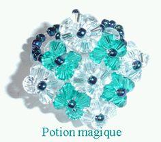 Bague 9 fleurs Diy Beaded Rings, Diy Jewelry Rings, Diy Rings, Jewelry Crafts, Jewelry Making, Jewellery, Beaded Jewelry Patterns, Beading Patterns, Party Rings