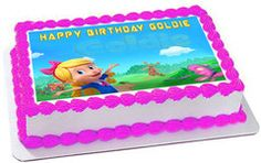 Goldie & Bear 2 Edible Cake Topper & Cupcake Toppers – Edible Prints On Cake (EPoC)