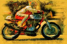 old motorcycle race