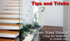 You know sometimes when you look at glass it has a nice slight green tint to it. Jonathan shows you how achieve this common effect with his material settings in V-Ray for SketchUp.