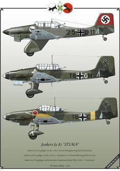 Luftwaffe Aviation Art made by Simon Schatz: Junkers Ju 87 Stuka Ww2 Aircraft, Fighter Aircraft, Military Aircraft, Luftwaffe, Air Fighter, Fighter Jets, Focke Wulf, German Soldiers Ww2, Ww2 Planes