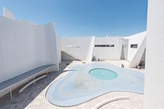 Curls of white concrete and a water-filled courtyard surround this museum of Baroque art and culture in Mexico by Japanese architect Toyo Ito Toyo Ito, Lebbeus Woods, Louis Kahn, Steven Holl, Tadao Ando, Carlo Scarpa, John Pawson, Zaha Hadid Architects, Richard Meier