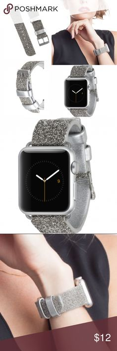 Case Mate Brilliance Band for Apple Watch 38mm NIP BRAND NEW IN BOX:  Make a shimmering statement for your Apple Watch with this genuine crystal and leather band. Finished with our signature logo-engraved clasp, it easily dresses up a casual daytime style and creates a captivating shine for anywhere the night takes you.   Genuine crystal and leather band for 38mm Apple Watch Signature logo-engraved clasp Fits wrist sizes: 145mm - 190mm Compatible with Apple Watch Series 1, Series 2, and…