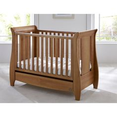 Tutti Bambini Katie Mini Cot Bed + Drawer (Oak) from Tutti Bambini part of the Cots range available at PreciousLittleOne
