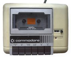 Remember when computer software was on cassette tapes? Here's a Commodore 1530 C2N Datassette