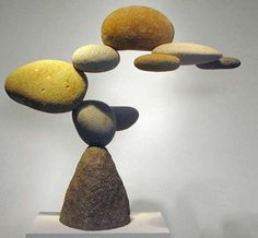 Floating Rock Sculptures - The Woods Davy Rock Exhibits Display Rocks in Suspended in Mid-air (GALLERY)