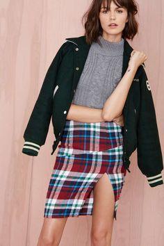 Plaid Rush Skirt