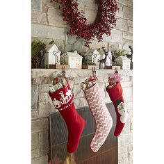 Reilly Red Christmas Stocking  | Crate and Barrel
