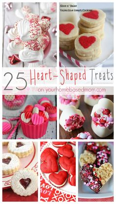 25 Heart-Shaped Treats by your homebased mom Valentine Desserts, Valentines Day Treats, Holiday Treats, Holiday Recipes, Valentines Baking, Valentines Recipes, Valentines Art, Holiday Foods, Strawberry Mousse