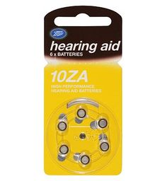 Boots Hearing Aid Batteries Size 10 - 6 Pack