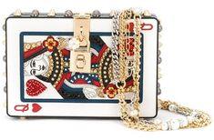 Dolce & Gabbana  Pochette en métal et cuir
