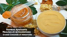 Baumes Apaisants Douleurs Musculaires et Articulaires ↑↑ Grande Consoude... Immortelle, Printer, Fruit, Food, Homemade Cosmetics, Homemade, Muscle Soreness, Recipes, Printers