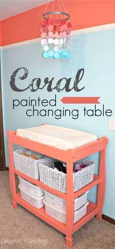 Painted Changing Table #skipthehouseworkparty