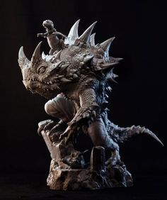 Zbrush, Sculpture Art, Sculpting, Character Design, Statue, Model Kits, Twitter, Monsters, Dragon