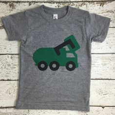 New lil threadz design posted! Garbage truck shirt garbage truck truck party sibling shirt big bro organic blend tee construction party baby toddler youth sizes by lilthreadzclothing