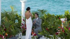 The Bachelor Canada finale in Barbados where Brad Smith proposes to Bianka at the picturesque Crane Beach!