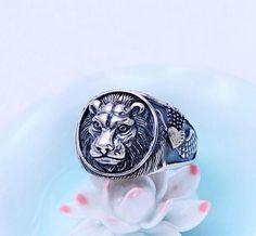 Stainless Steel 3 Color Fleur De Lis Shank Blue Eyeball Demon Skull Hand Claw Biker Ring