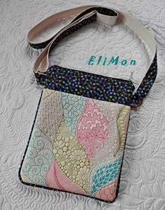 Free motion quilting , crossbody bag.