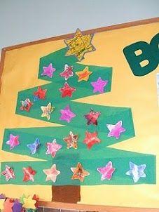 Arbre nadal amb papewr continu i estrelles