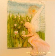needle felted painting