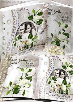 Wedding photo album psd template for honeymooners wedding moments -  Free download