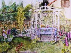 'Mon jardin' von Stephanie Köhl bei artflakes.com als Poster oder Kunstdruck $23.56