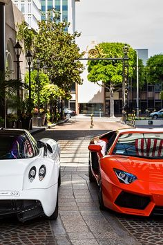 Pagani and Lamborghini