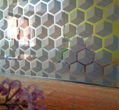 Printed glass splashback with mirror effect