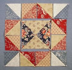 Love this block. Part of a mystery block of the month.