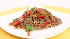 Looks light and yummy! Soba Noodle Salad Recipe - Laura Vitale - Laura in the Kitchen Episode 621 Asian Recipes, Healthy Recipes, Ethnic Recipes, Asian Foods, Healthy Foods, Healthy Eating, The Kitchen Episodes, Soba Noodles, Complete Recipe