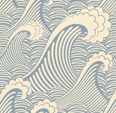 Waves of Chic Removable Wallpaper $68.00 USD