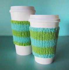 Magic Loop Coffee Cozy pattern on Craftsy.com