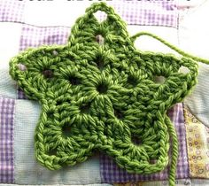 Pretty crochet star